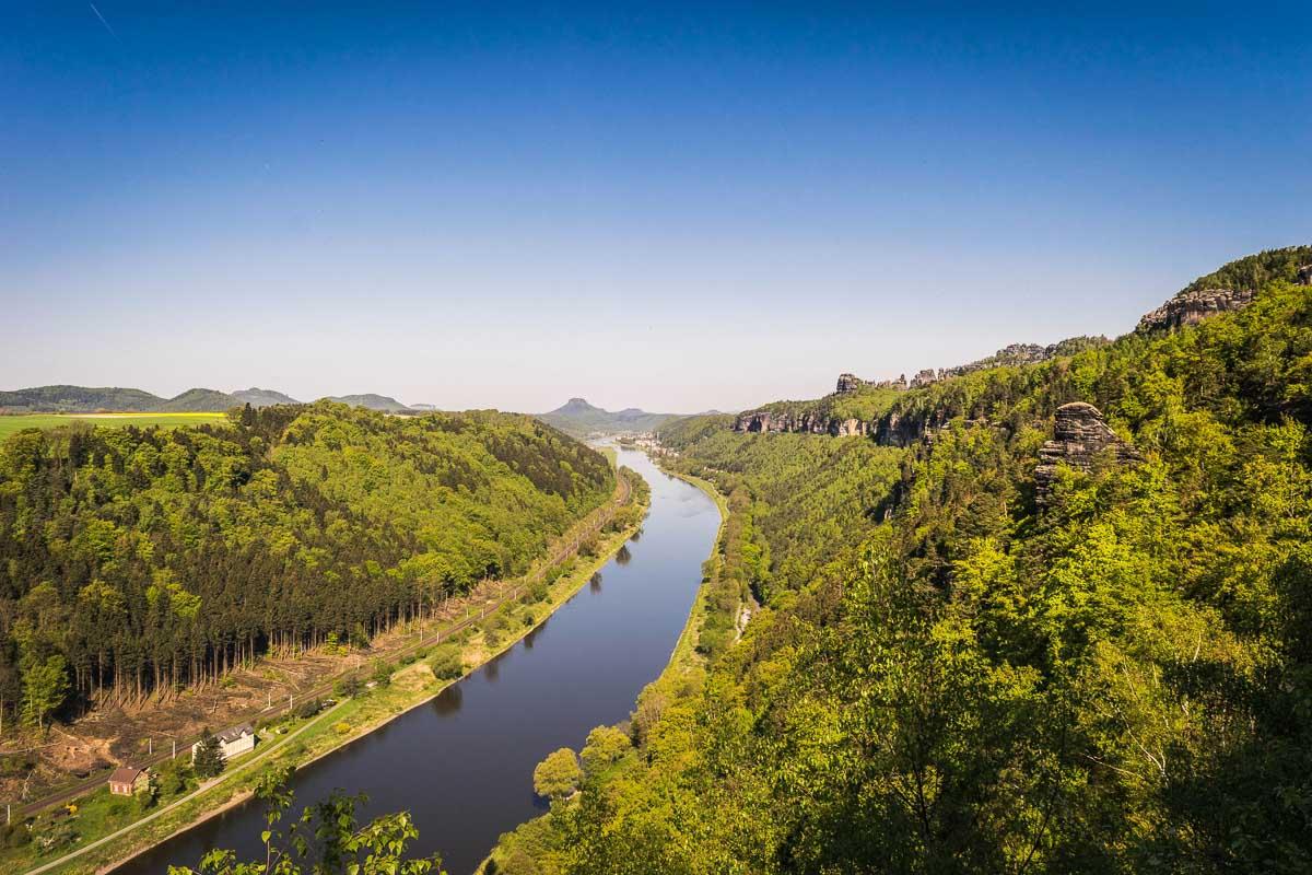 Einzigartige Flusslandschaft der Elbe